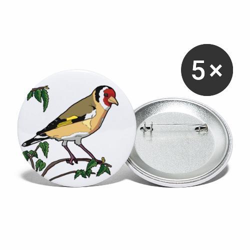 Jilguero - Paquete de 5 chapas pequeñas (25 mm)