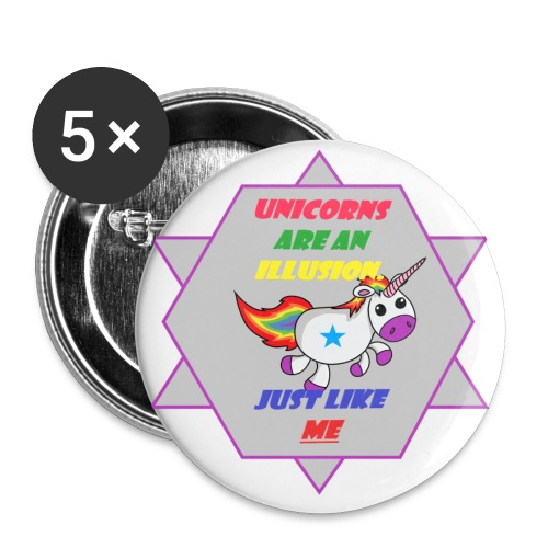 Unicorn with joke - Buttons small 1''/25 mm (5-pack)