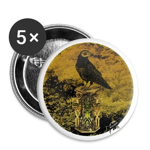 'Memento Mori', round w. logo by BlackenedMoonArts - Buttons/Badges lille, 25 mm (5-pack)