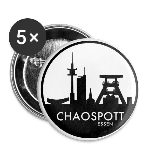 chaospott white bg - Buttons klein 25 mm (5er Pack)