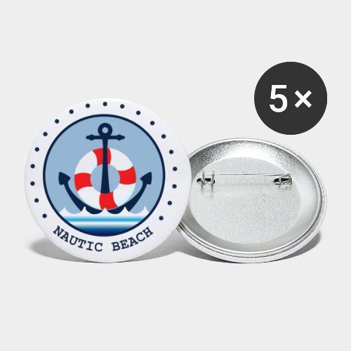 NAUTIC BEACH - Buttons klein 25 mm (5er Pack)