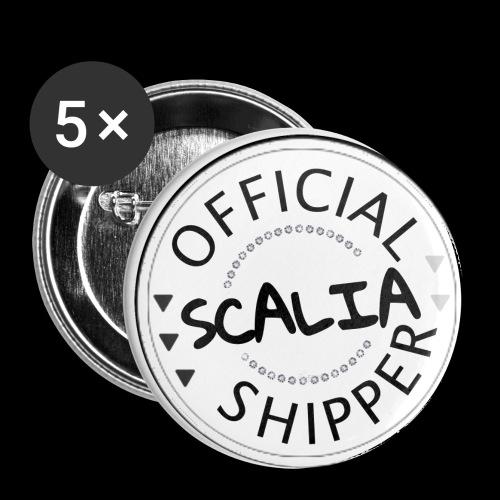 Official Scalia Shipper - Lot de 5 petits badges (25 mm)