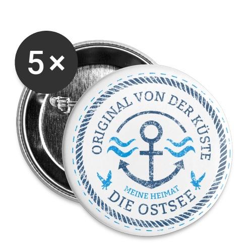 Ich bin ein Original von der Ostsee - Buttons klein 25 mm (5er Pack)