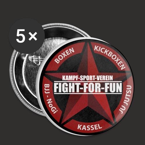 Logo Rot - Buttons klein 25 mm (5er Pack)