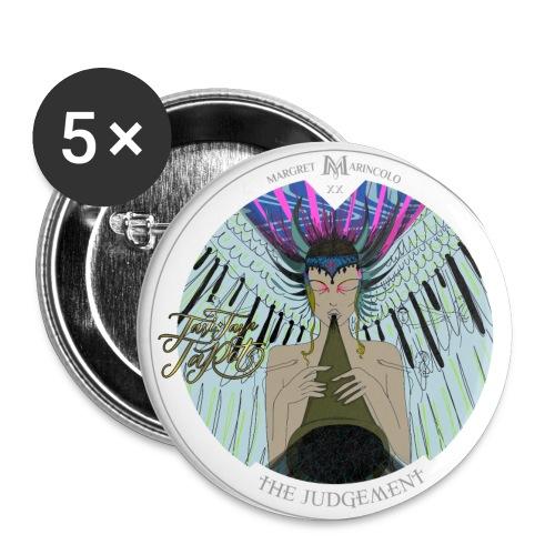 The Judgement | Das Gericht Tarot Karte rund - Buttons klein 25 mm (5er Pack)