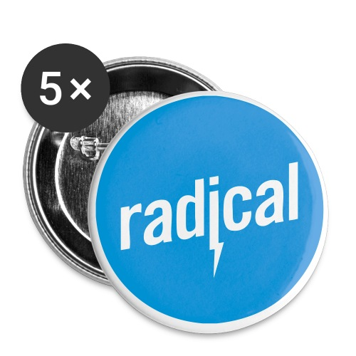 rad logo - Buttons klein 25 mm (5er Pack)