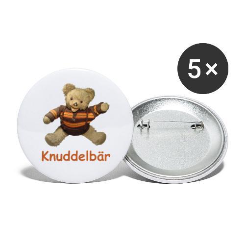 Teddybär Knuddelbär Schmusebär Teddy orange braun - Buttons klein 25 mm (5er Pack)