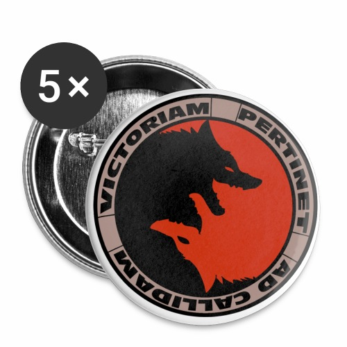 Fox Resistance - Buttons small 1''/25 mm (5-pack)
