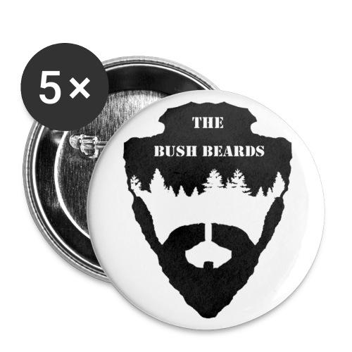 THE BUSH BEARDS - Buttons klein 25 mm (5er Pack)