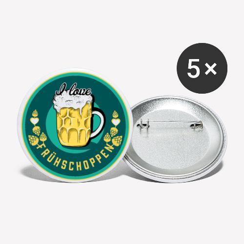 I love Frühschoppen - Buttons klein 25 mm (5er Pack)
