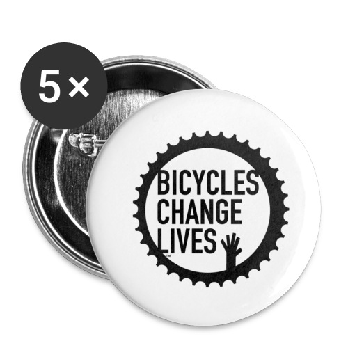 Bicycles Change Lives Cog Button - Buttons small 1''/25 mm (5-pack)