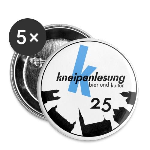 25 Jahre Button - Buttons klein 25 mm (5er Pack)