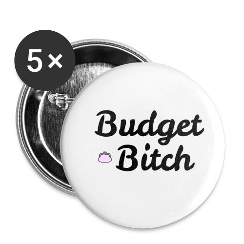 Budget Bitch merchandise - Buttons/Badges lille, 25 mm (5-pack)