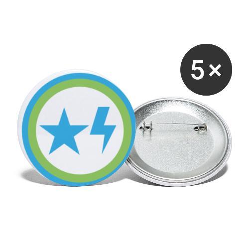 Étoile et éclair - Lot de 5 petits badges (25 mm)