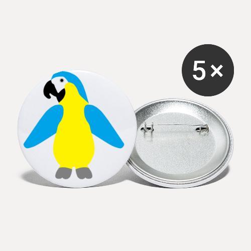 Gelbbrustara - Buttons small 1''/25 mm (5-pack)