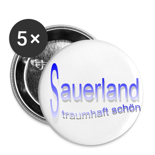 sauerland - Buttons klein 25 mm (5er Pack)