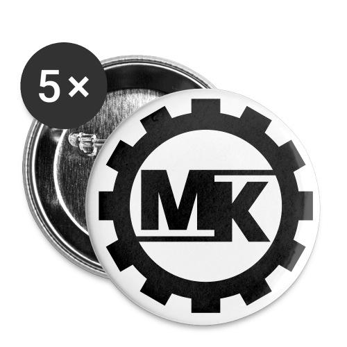 MKlang EBM -- Girlieshirt klassisch - Buttons klein 25 mm (5er Pack)