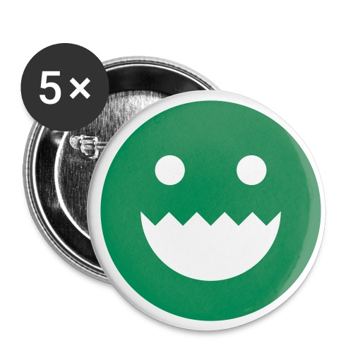 greentooth seethru - Buttons small 1''/25 mm (5-pack)