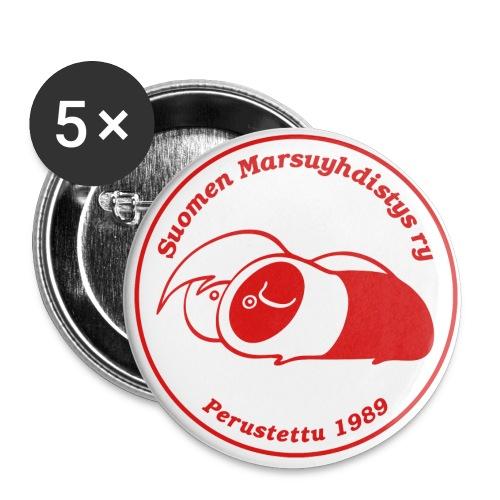 smylogoredpix - Rintamerkit pienet 25 mm (5kpl pakkauksessa)