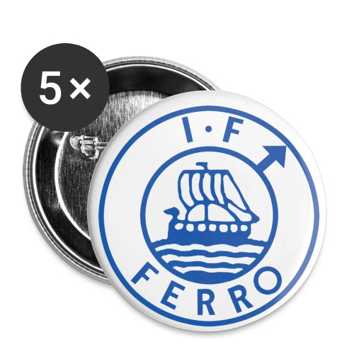 big logo Ferro png - Små knappar 25 mm (5-pack)