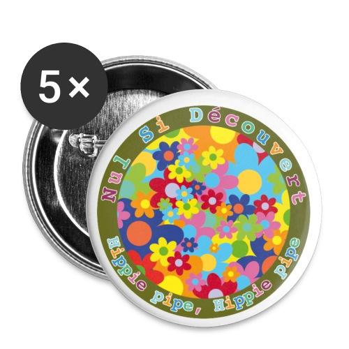 nsd flowpow hippie pipe - Lot de 5 petits badges (25 mm)