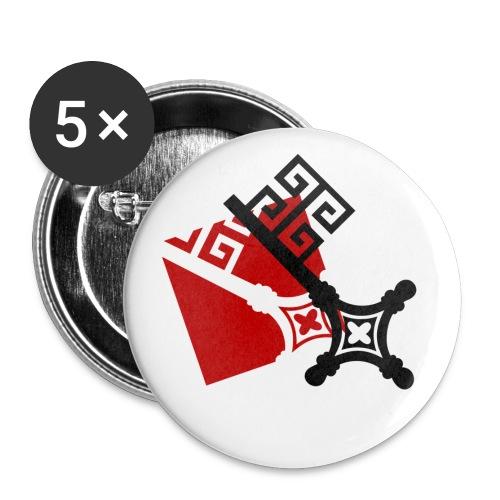 shirtmotiv schluessel - Buttons klein 25 mm (5er Pack)