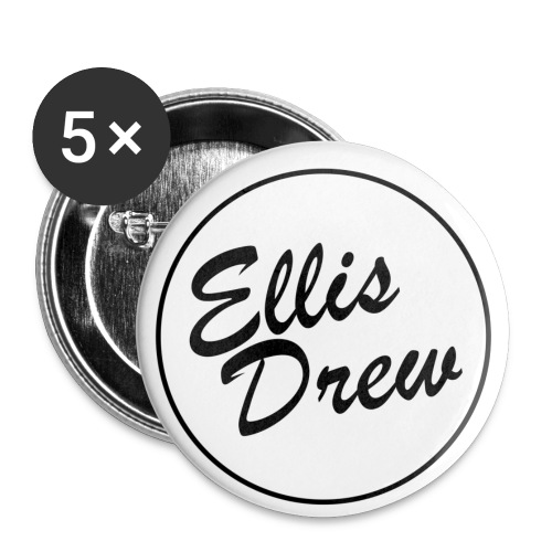 Ellis Drew Logo - Buttons small 1''/25 mm (5-pack)