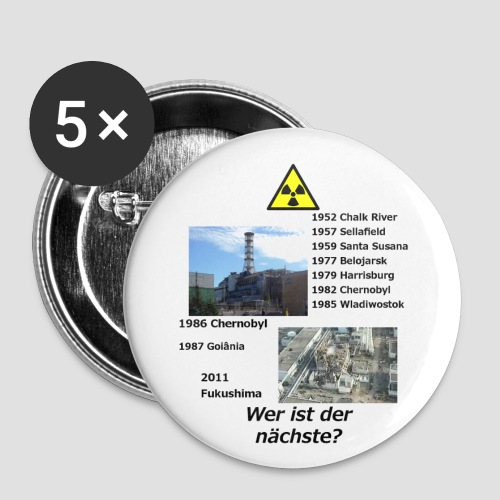 no nuclear button (German) Wer ist der Nächste? - Buttons small 1''/25 mm (5-pack)
