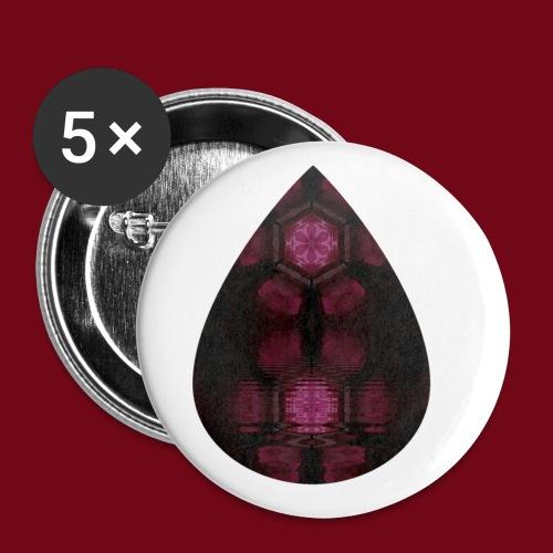 Tropfensee - Buttons klein 25 mm (5er Pack)