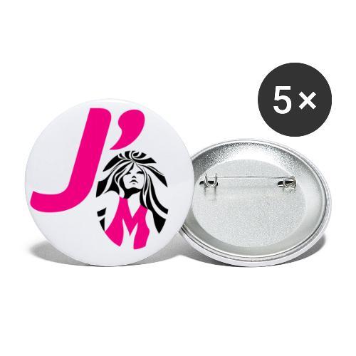 J'aime - Lot de 5 petits badges (25 mm)