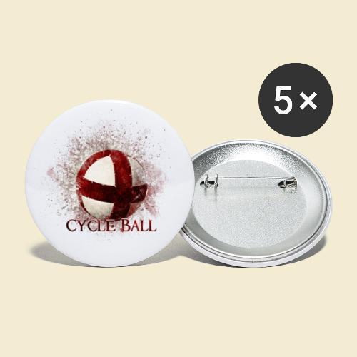Radball   Cycle Ball - Buttons klein 25 mm (5er Pack)