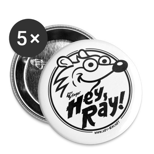 Hey Ray Logo black - Buttons klein 25 mm (5er Pack)