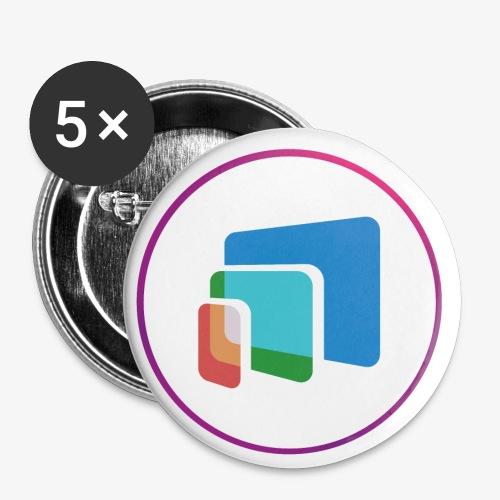 LOGO-MobyScreen+Rond-4000 - Lot de 5 petits badges (25 mm)