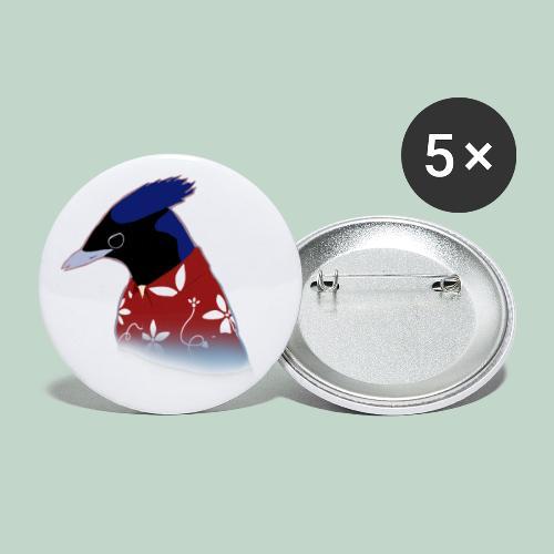 Surfer bird - Buttons small 1''/25 mm (5-pack)