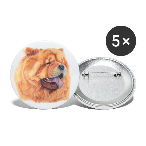 chow chow - Buttons/Badges lille, 25 mm (5-pack)