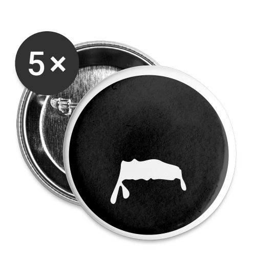 Milchbart - Buttons klein 25 mm (5er Pack)