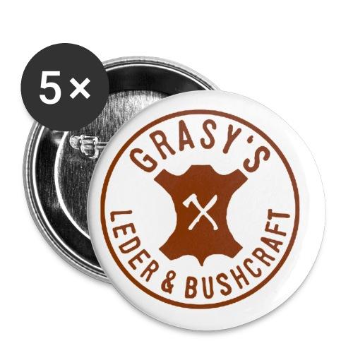 Grasy Logo_groß - Buttons klein 25 mm (5er Pack)