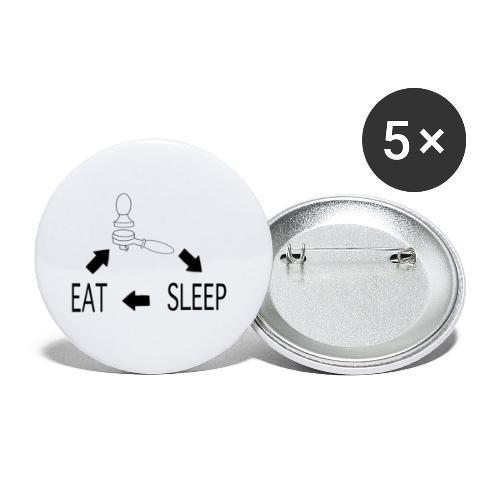 Essen Kaffee Schlafen Barista Alltag - Buttons klein 25 mm (5er Pack)