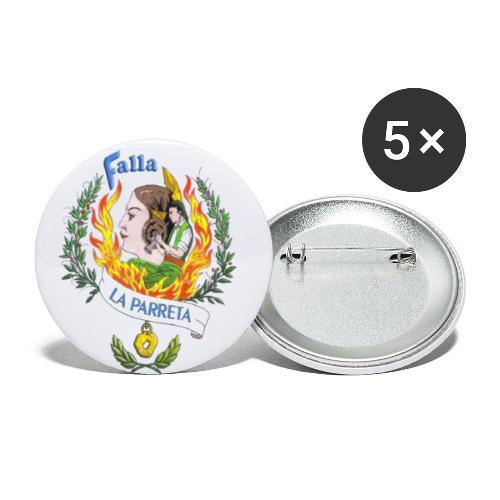 Falla La Parreta - Paquete de 5 chapas pequeñas (25 mm)