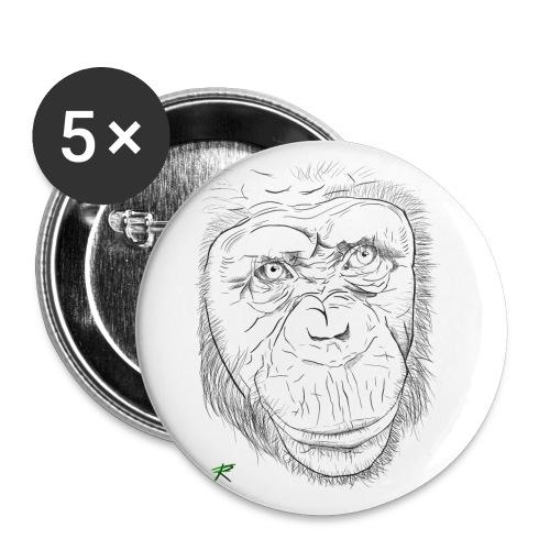 Scimpanzè - Confezione da 5 spille piccole (25 mm)