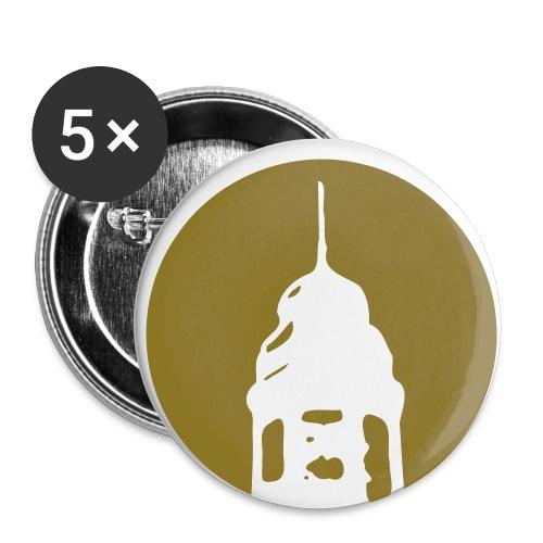 Logo invertiert (Alternative Farben) - Buttons klein 25 mm (5er Pack)
