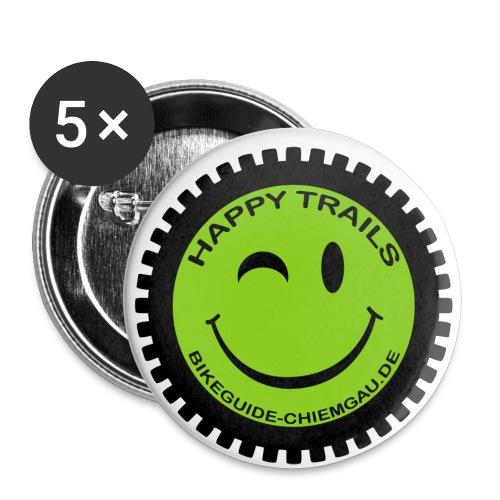happytrails smiley png - Buttons klein 25 mm (5er Pack)