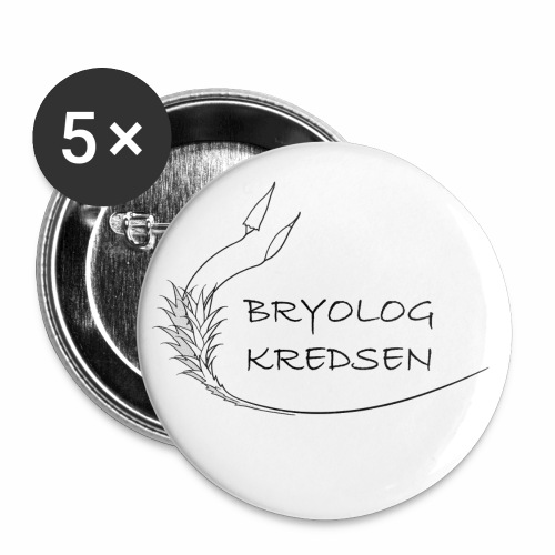 Bryologkredsen - sort logo - Buttons/Badges lille, 25 mm (5-pack)