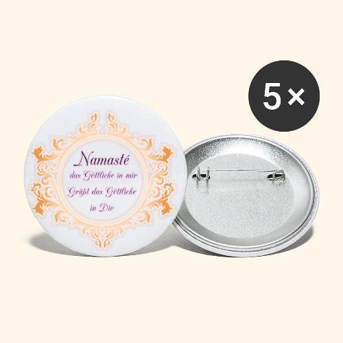 Namasté - Buttons klein 25 mm (5er Pack)