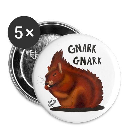 Ecureuil Démoniaque - Lot de 5 petits badges (25 mm)
