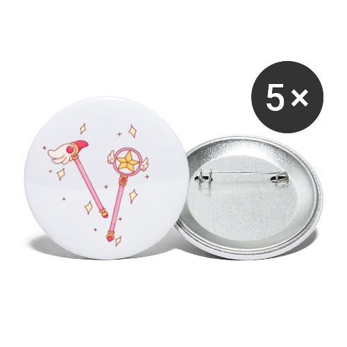 MagicSakura - Paquete de 5 chapas pequeñas (25 mm)