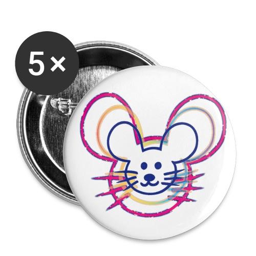 kleines Mausgesicht/Mäuse - Buttons klein 25 mm (5er Pack)