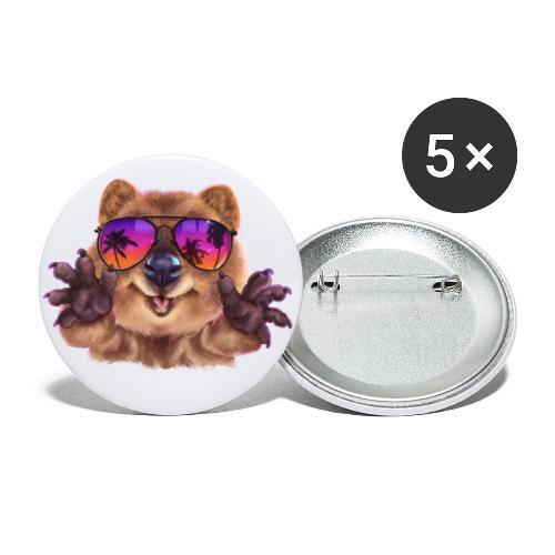 Cooler Quokka - Buttons klein 25 mm (5er Pack)
