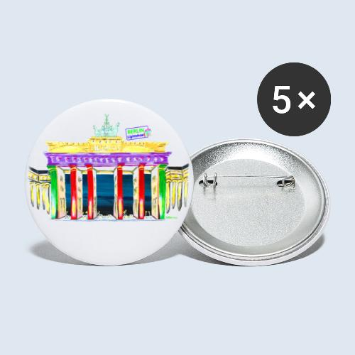 Neu! Brandenburger Tor/BerlinLightShow Collection - Buttons klein 25 mm (5er Pack)