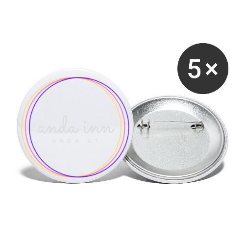 Anda inn anda út - Buttons/Badges lille, 25 mm (5-pack)